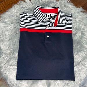 FootJoy Striped Polo Size Large